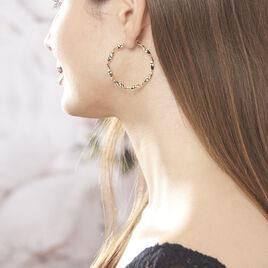 Créoles Lenna Torsadée Plaque Or Jaune - Boucles d'oreilles créoles Femme | Histoire d'Or