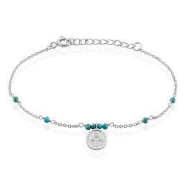 Bracelet Pavline Argent Blanc Pierre De Synthese - Bracelets fantaisie Femme | Histoire d'Or