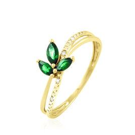 Bague Maura Or Jaune Emeraude Et Diamant - Bagues avec pierre Femme | Histoire d'Or