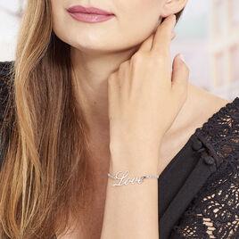 Bracelet Lovina Argent Blanc - Bracelets fantaisie Femme   Histoire d'Or