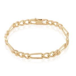 Bracelet Bixente Maille Alternee 1/3 Plaque Or Jaune - Bracelets chaîne Femme | Histoire d'Or
