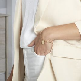 Bracelet Neala Plaque Or Jaune - Bijoux Femme   Histoire d'Or