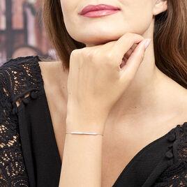 Bracelet Judith Argent Blanc Oxyde De Zirconium - Bracelets fantaisie Femme   Histoire d'Or