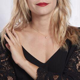 Collier Or Jaune Diamant Synthetique - Bijoux Femme   Histoire d'Or