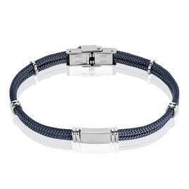 Bracelet Acier Plaque Acier Cordons Coton - Bracelets cordon Homme | Histoire d'Or