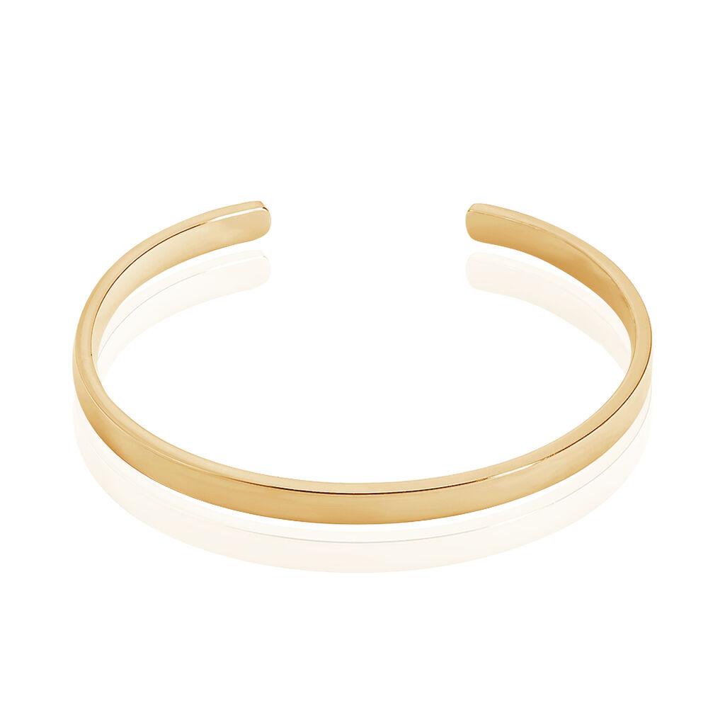 Bracelet Jonc Graca Plaque Or Jaune - Bracelets fantaisie Femme   Histoire d'Or