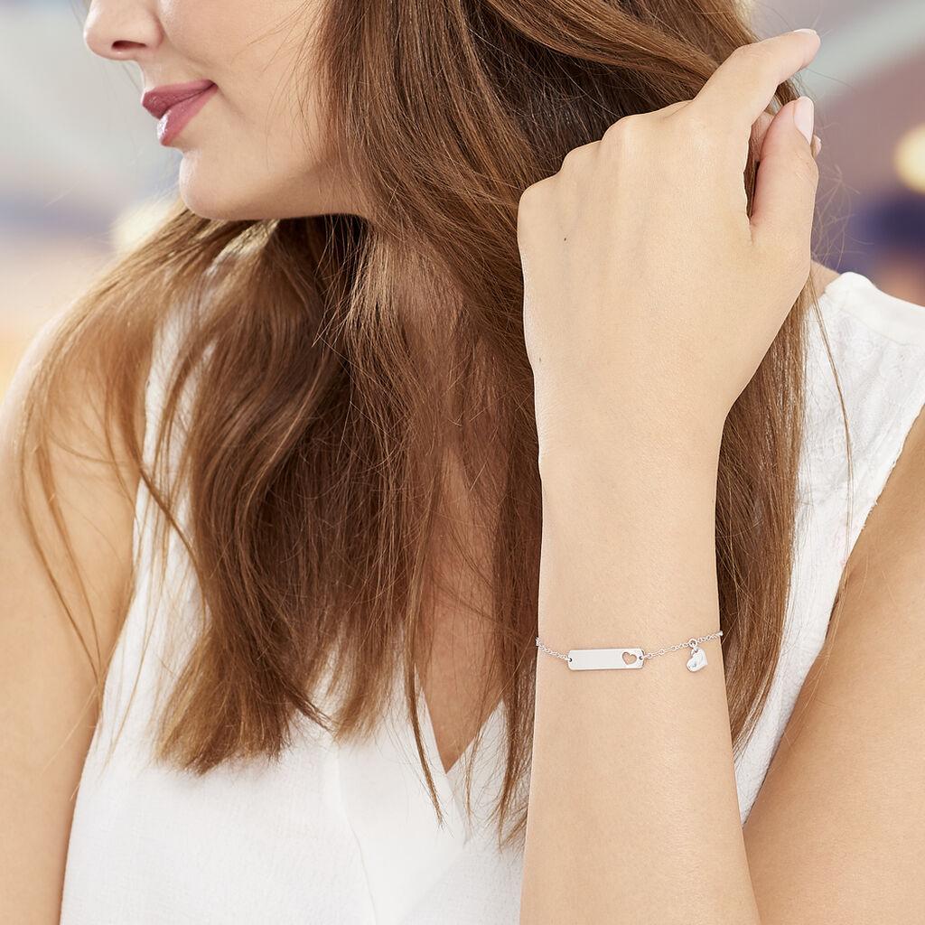 Bracelet Marlaine Argent Blanc - Bracelets Coeur Femme   Histoire d'Or