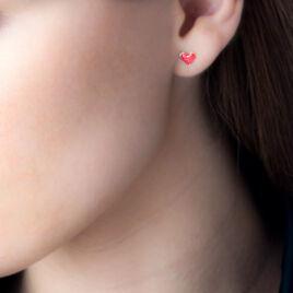 Boucles D'oreilles Puces Or Jaune - Boucles d'Oreilles Coeur Femme | Histoire d'Or