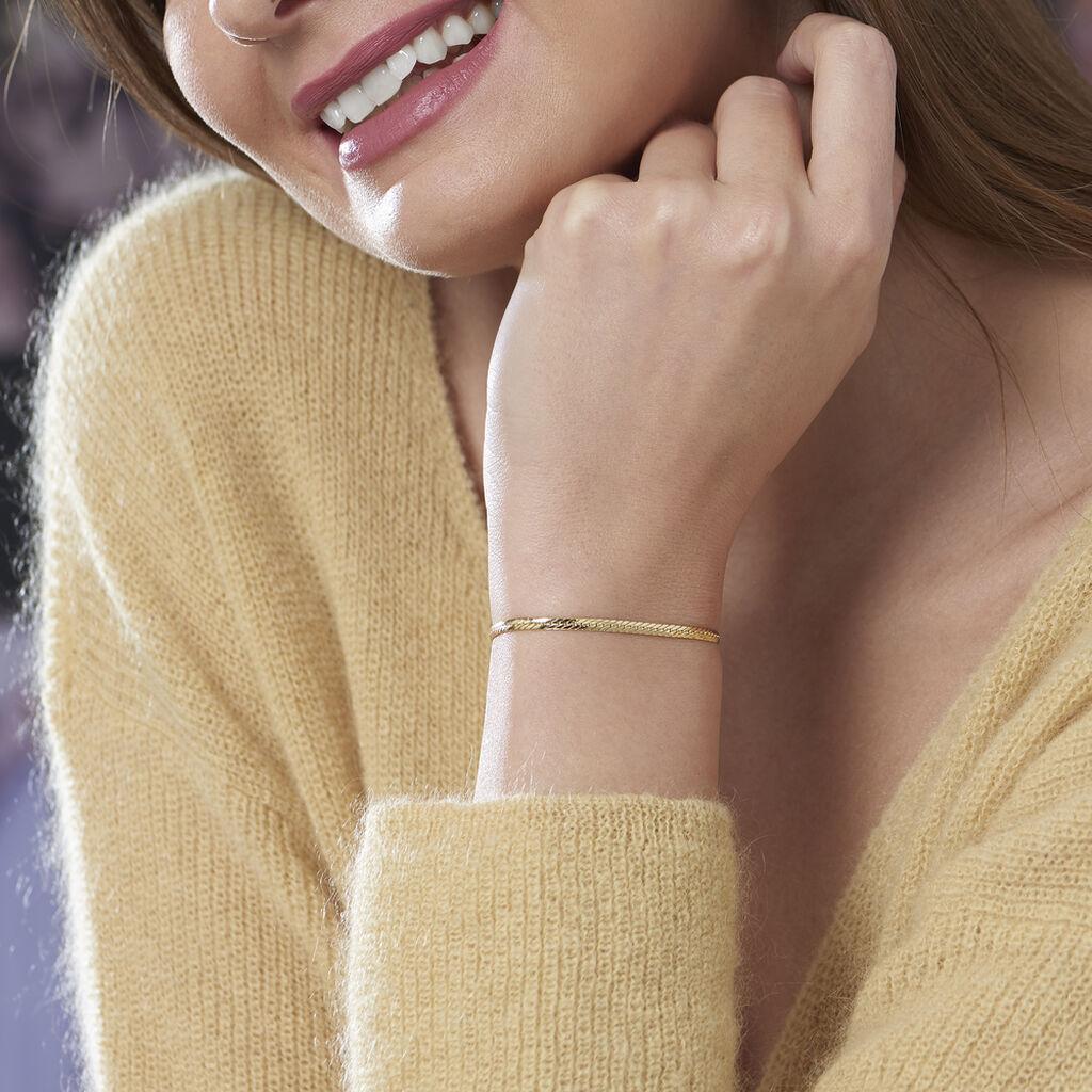 Bracelet Izel Maille Anglaise Or Jaune - Bracelets chaîne Femme   Histoire d'Or