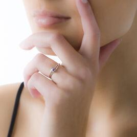 Bague Veroucha Or Blanc Amethyste - Bagues solitaires Femme | Histoire d'Or