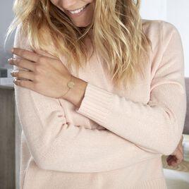 Bracelet Olivea Plaque Or Jaune - Bracelets fantaisie Femme | Histoire d'Or