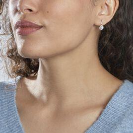Boucles D'oreilles Pendantes Karolanne Argent Blanc Oxyde De Zirconium - Boucles d'oreilles fantaisie Femme | Histoire d'Or
