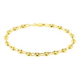 Bracelet Maille Dami Maille Grain De Cafe Or Jaune - Bracelets chaîne Femme   Histoire d'Or
