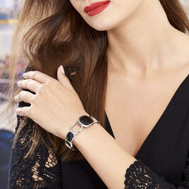 Bracelet Jonc Hatayi Acier Blanc - Bracelets fantaisie Femme   Histoire d'Or