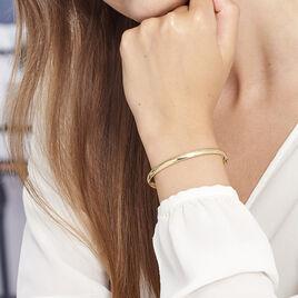 Bracelet Jonc Cynthia Fil Flexible Or Jaune - Bracelets joncs Femme | Histoire d'Or