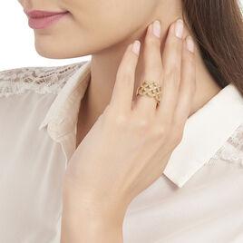 Bague Tiziana Plaque Or Jaune Oxyde De Zirconium - Bagues avec pierre Femme | Histoire d'Or