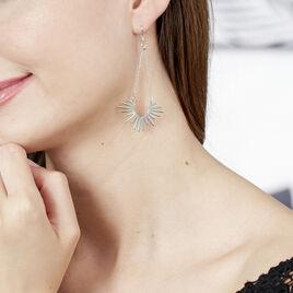 Boucles D'oreilles Pendantes Abra Argent Blanc - Boucles d'oreilles fantaisie Femme | Histoire d'Or