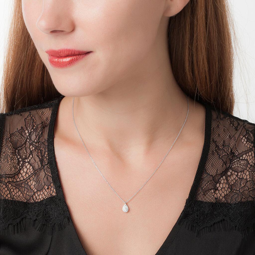Collier Georgina Or Blanc Diamant - Bijoux Femme   Histoire d'Or