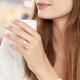 Bague Myriama Plaque Or Jaune Oxyde De Zirconium - Bagues solitaires Femme | Histoire d'Or