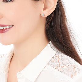 Boucles D'oreilles Puces Veranina Plaque Or Jaune Oxyde De Zirconium - Boucles d'oreilles fantaisie Femme | Histoire d'Or