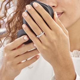 Bague Elorie Argent Blanc Oxyde De Zirconium - Bagues avec pierre Femme   Histoire d'Or