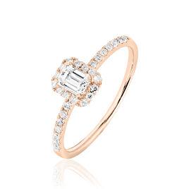 Bague Solitaire Barbara Or Rose Diamant - Bagues avec pierre Femme   Histoire d'Or