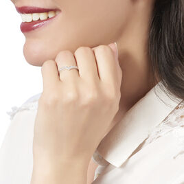 Bague Zilia Or Blanc Diamant - Bagues avec pierre Femme   Histoire d'Or
