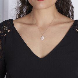 Collier Geoffrey Argent Rhodié Oxydes De Zirconium - Colliers Coeur Femme | Histoire d'Or