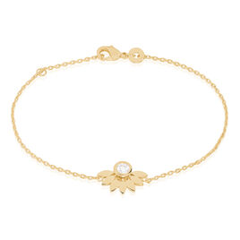 Bracelet Varia Plaque Or Jaune Oxyde De Zirconium - Bracelets fantaisie Femme | Histoire d'Or
