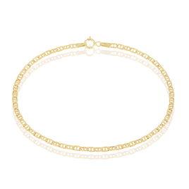 Bracelet Clemens Maille Marine Rectangle Or Jaune - Bracelets chaîne Femme | Histoire d'Or