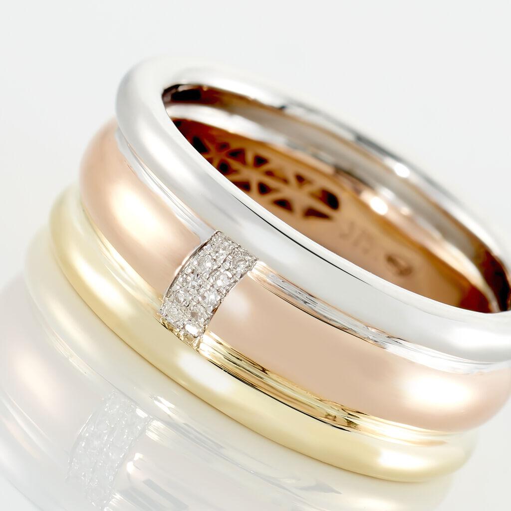 Bague Hajila Or Tricolore Diamant - Bagues avec pierre Femme | Histoire d'Or