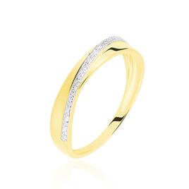 Bague Timira Or Jaune Diamant - Bagues avec pierre Femme | Histoire d'Or