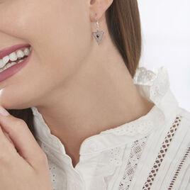 Boucles D'oreilles Pendantes Bernna Argent Blanc Oxyde De Zirconium - Boucles d'oreilles fantaisie Femme   Histoire d'Or