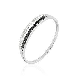 Bague Arslane Or Blanc Diamant - Bagues avec pierre Femme   Histoire d'Or