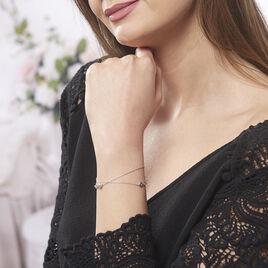 Bracelet Noelle Argent Blanc - Bracelets Infini Femme | Histoire d'Or