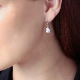 Boucles D'oreilles Pendantes Perce-neige Argent Oxyde De Zirconium - Boucles d'oreilles fantaisie Femme | Histoire d'Or