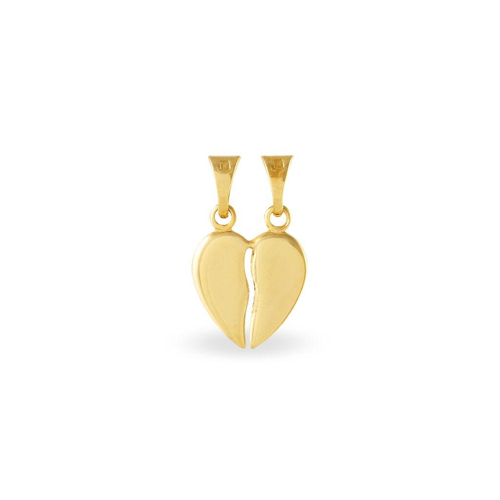 Pendentif Tasnym Plaque Or Jaune - Pendentifs Coeur Femme | Histoire d'Or