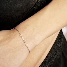 Bracelet Argent Blanc Irwin - Bracelets fantaisie Femme   Histoire d'Or