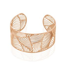 Bracelet Jonc Andor Acier Rose - Bracelets Plume Femme | Histoire d'Or