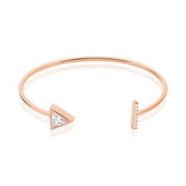 Bracelet Jonc Smita Argent Rose Oxyde De Zirconium - Bracelets fantaisie Femme | Histoire d'Or