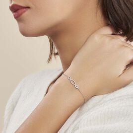 Bracelet Carla Argent Blanc Oxyde De Zirconium - Bracelets fantaisie Femme | Histoire d'Or