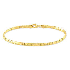 Bracelet Ivy Maille Haricot Or Jaune - Bracelets chaîne Femme   Histoire d'Or
