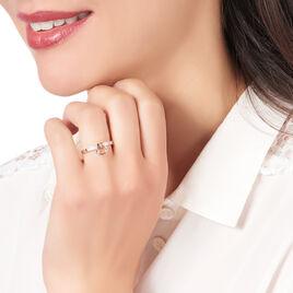 Bague Molly Or Rose Diamant - Bagues avec pierre Femme | Histoire d'Or