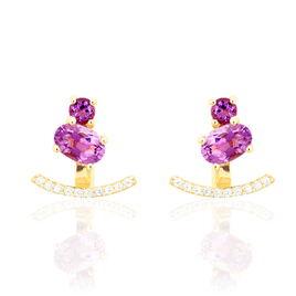 Bijoux D'oreilles Or Jaune Amethyste Oxyde De Zirconium - Ear cuffs Femme | Histoire d'Or