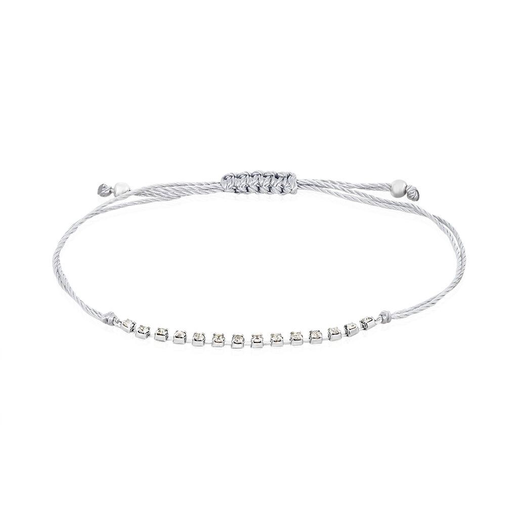 Bracelet Kelynaae Argent Blanc Oxyde De Zirconium - Bracelets cordon Femme | Histoire d'Or