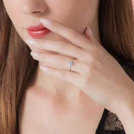 Bague Solitaire Afsa Argent Blanc Oxyde De Zirconium - Bagues solitaires Femme | Histoire d'Or
