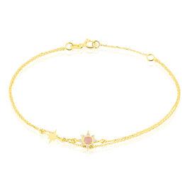 Bracelet Terrie Or Jaune Calcedoine Et Oxyde De Zirconium - Bijoux Etoile Femme | Histoire d'Or