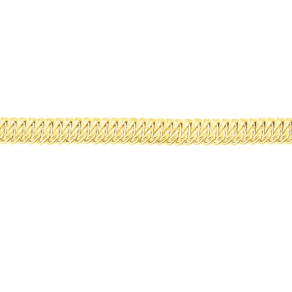 Bracelet Jimmy Maille Americaine Or Jaune - Bracelets chaîne Femme   Histoire d'Or