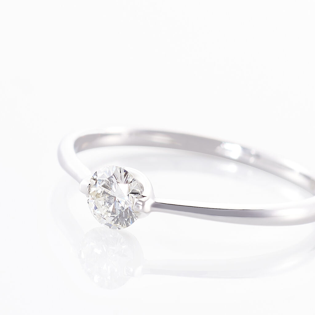 Bague Solitaire Refika Or Blanc Diamant