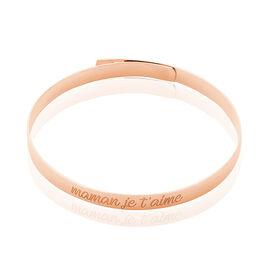 Bracelet Jonc Ludivine Argent Rose - Bracelets fantaisie Femme   Histoire d'Or
